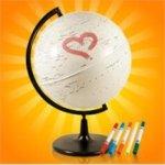 глобус путешественника в подарок учителю