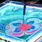 Эбру рисование на воде