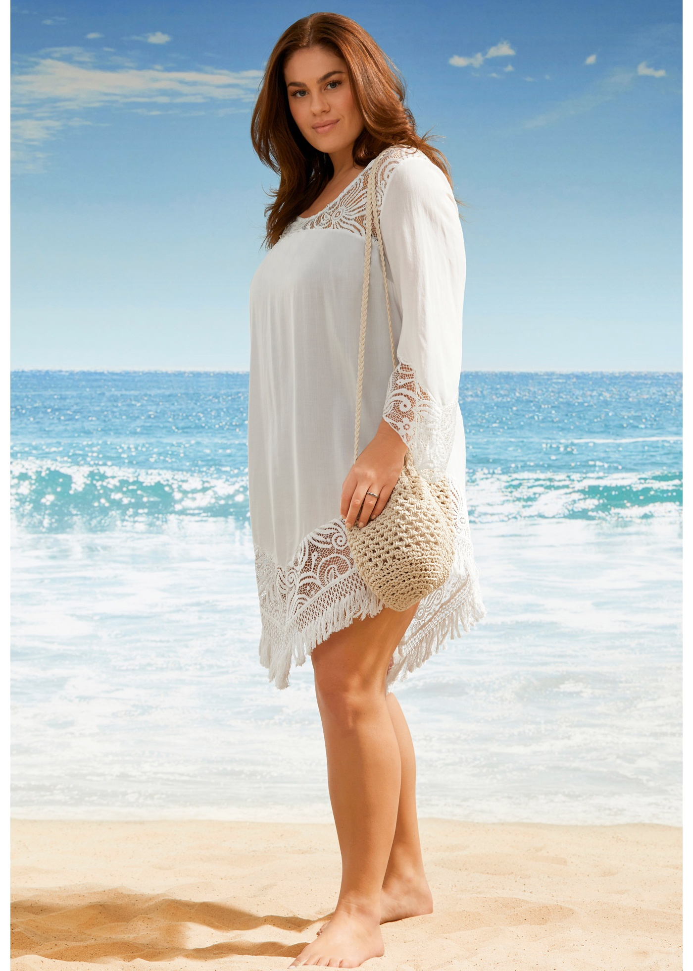 пляжное платье большой размер